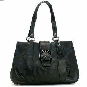 Coach Black Leather Shoulder Handbag